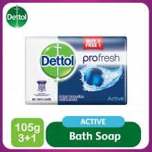 Dettol Body Soap Active 105g 3+1