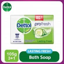 Dettol Body Soap Lasting Fresh 105g 3+1