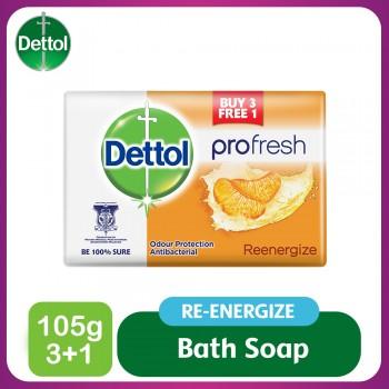 Dettol Body Soap Re-Energize 105g 3+1