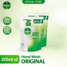 Dettol Hand Wash Original Refill Pouch Twin Pack 2x225ml