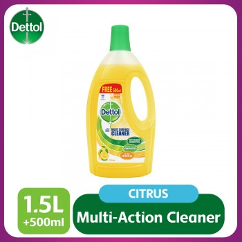 Dettol Multi Action Cleaner 1.5L+FOC 500ml (Citrus)