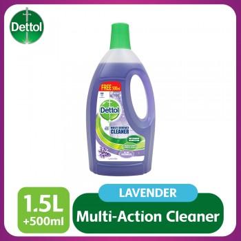 Dettol Multi Action Cleaner 1.5L+FOC 500ml (Lavender)