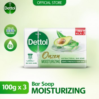 Dettol Anti-Bacterial Body Soap (3's) 100g Onzen Moisturizing