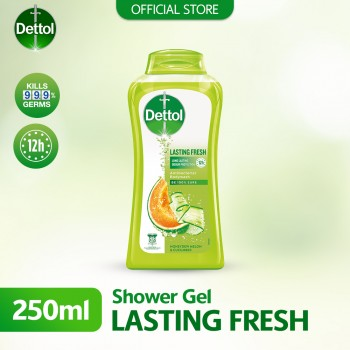 Dettol Anti-Bacterial Shower Gel Lasting Fresh 250ml