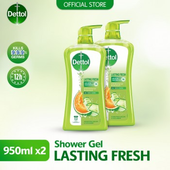 Dettol Shower Gel 950ml Twin Pack Lasting Fresh