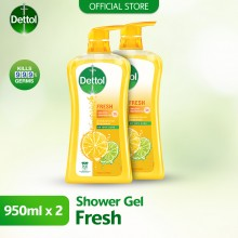 Dettol Shower Gel 950ml Twin Pack Fresh