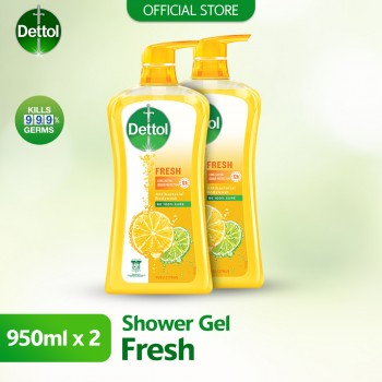 Dettol Shower Gel 950ml Twin Pack Fresh