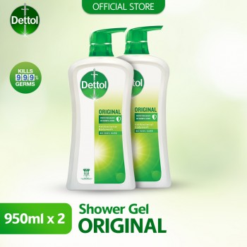 Dettol Shower Gel 950ml Twin Pack Original