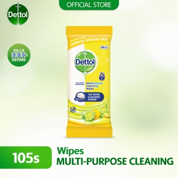 Dettol Multipurpose Cleaning Wipes Citrus 105s