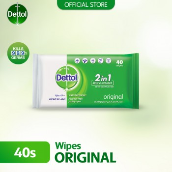 Dettol Anti -Bacterial Wet Wipes 40s