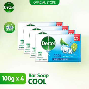 Dettol Anti-Bacterial Body Soap (3+1) 100g Cool
