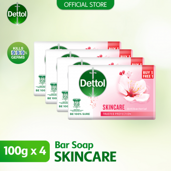Dettol Anti-Bacterial Body Soap (3+1) 100g Skincare