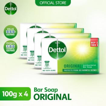 Dettol Anti-Bacterial Body Soap (3+1) 100g Original