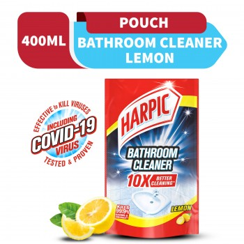 Harpic Bathroom Cleaner Lemon Refill Pouch 400ml