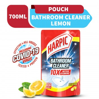 Harpic Bathroom Cleaner Lemon Refill Pouch 700ml