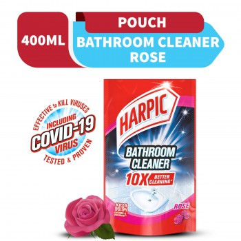 Harpic Bathroom Cleaner Rose Refill Pouch 400ml