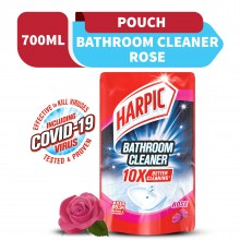Harpic Bathroom Cleaner Rose Refill Pouch 700ml