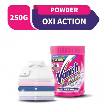 Vanish Oxi Action Fabric Stain Remover Pink Powder 250g