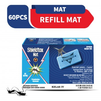 Shieldtox Blue Mat Refill 60 pieces
