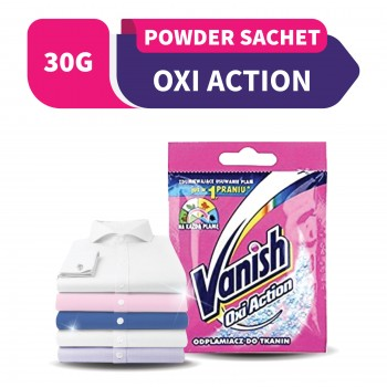 Vanish Oxi Action Fabric Stain Remover Pink Powder (Sachet) 30g