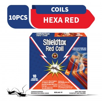 Shieldtox Red Coil Mosquito Coil 10 pieces