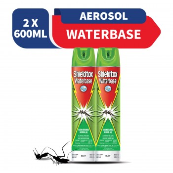 Shieldtox Waterbase Aerosol 600ml x2 (Value Pack)