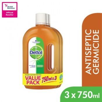 Dettol Brown Liquid 750ml x 3 Value Pack