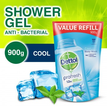 Dettol Shower Gel Cool 900ml Refill Pouch