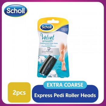 Scholl Velvet Smooth Replacement Roller Heads (Extra Coarse)