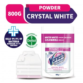 Vanish Fabric Crystal White Stain Remover Powder Doy 800g
