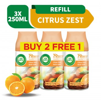 Air Wick Life Scents Freshmatic Citrus Refill 250ml 2+1 (Value Pack)