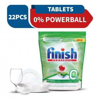 Finish 0% Powerball Dishwasher Tablets (22 tablets)