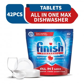 Finish All-In-One Max Dishwasher Cleaning Tablets 42 tabs