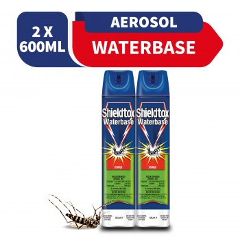 Shieldtox Waterbase Aerosol 600ml x2 (Value Pack)