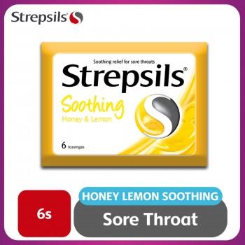Strepsils Soothing Honey & Lemon Lozenge 6s
